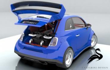 Lazzarini wants to stuff a Ferrari into a Fiat 500
