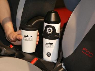 Espresso in your car courtesy of Fiat