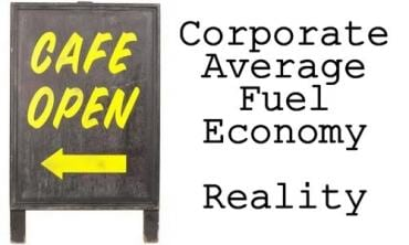 Corporate Average Fuel Economy Reality