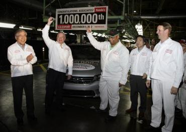 Honda builds 1 millionth automobile for export from U.S.