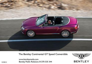 Bentley to unveil new Continental GT Speed Convertible at NAIAS