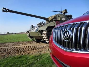 Buick recalls the 'Hot Rod of World War II' in a heavy metal tribute