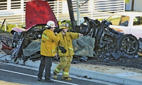 What caused the Paul Walker crash?