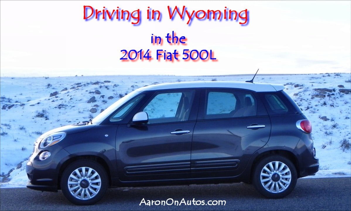 2014 Fiat 500L Driving in Wyoming