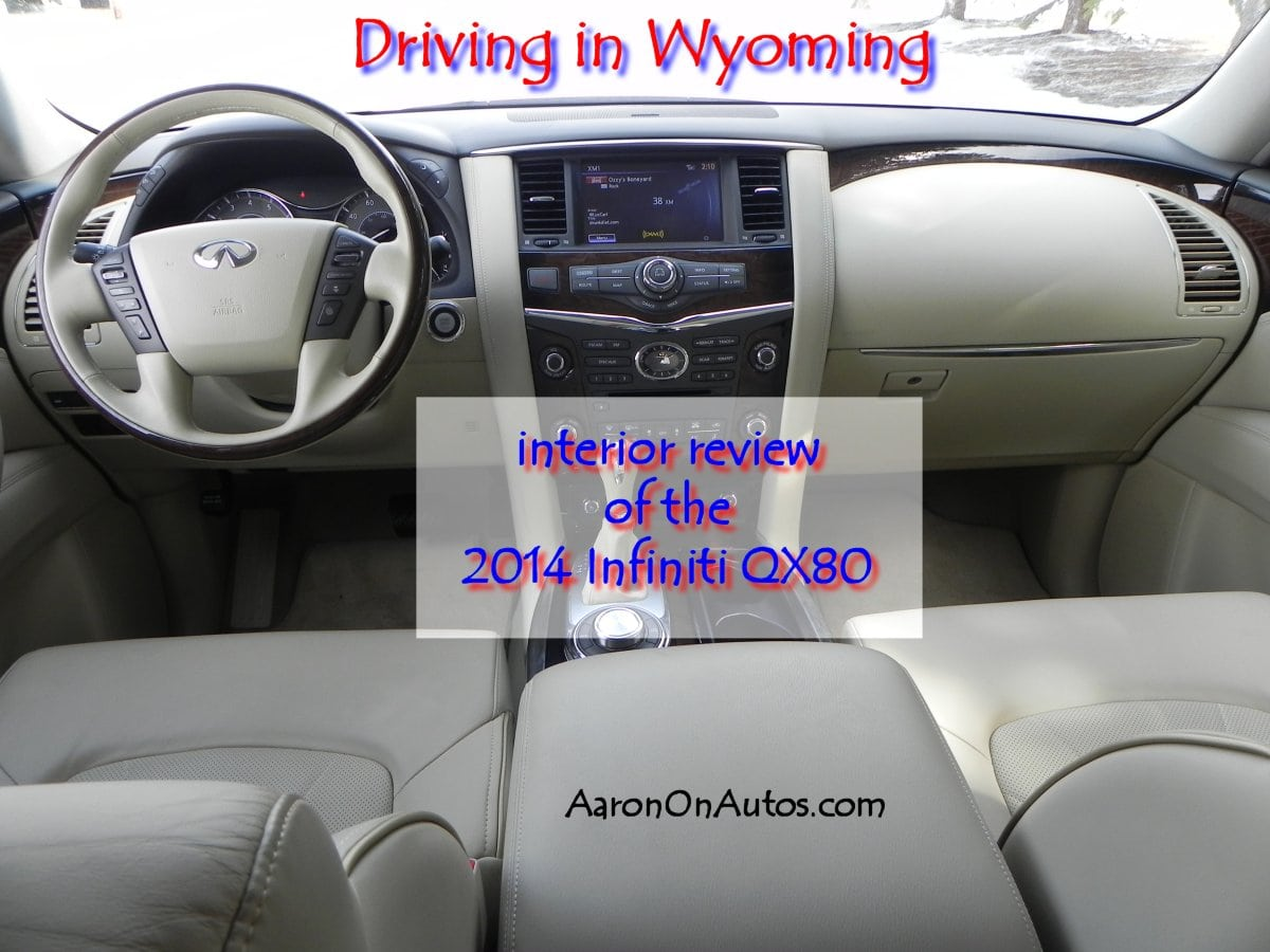 2014 Infiniti QX80 Driving in Wyoming interior review