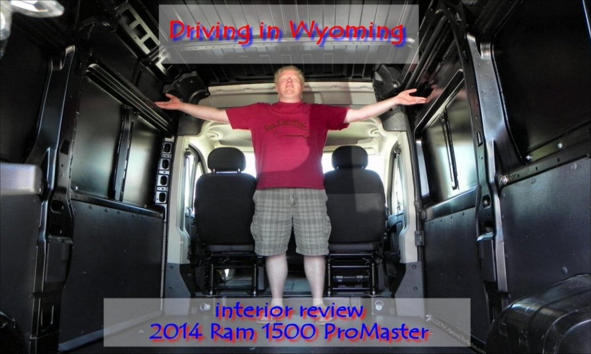 2014 Ram 1500 ProMaster commercial van interior review