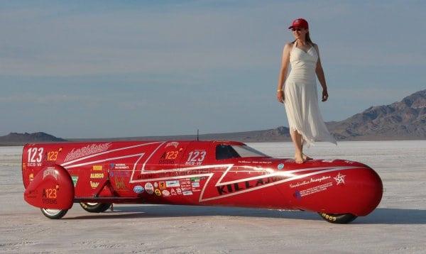 Eva Hakansson Makes 270 mph run at Bonneville in KillaJoule