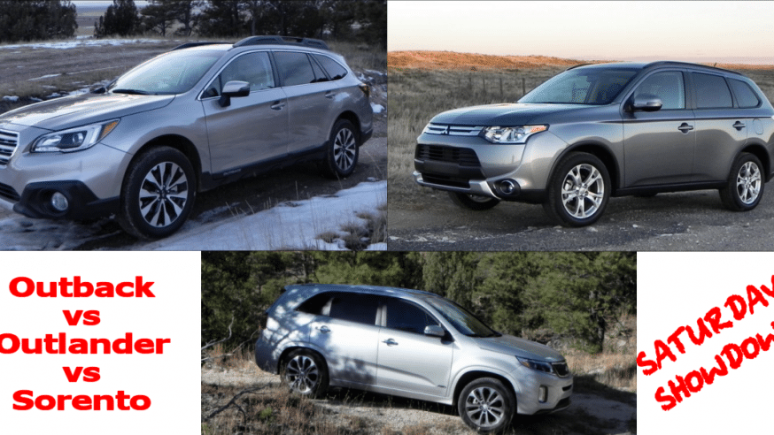 2015 Subaru Outback vs Mitsubishi Outlander vs Kia Sorento – Saturday Showdown – CarNewsCafe.com