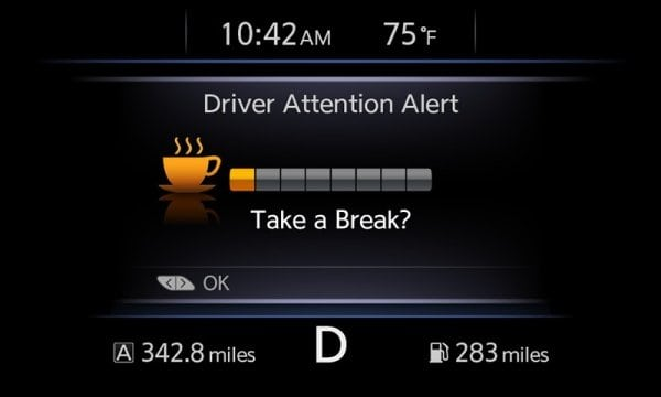 Nissan Details New Driver Attention Alert System Now Available in 2015 Murano, 2016 Maxima