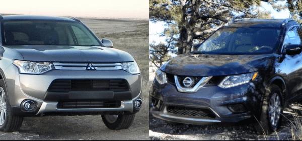 Mitsubishi Outlander vs Nissan Rogue