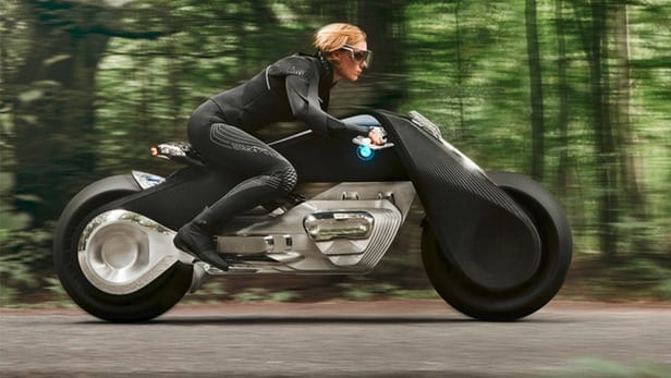 BMW Motorrad's futuristic motorcycle concept keeps the rider in control