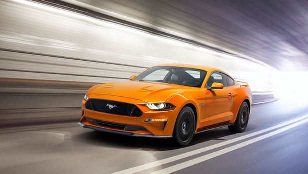 Ford unveils muscular new 2018 Mustang