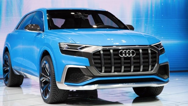 Audi sends in Q8 Plug-in Concept to gobble up Detroit