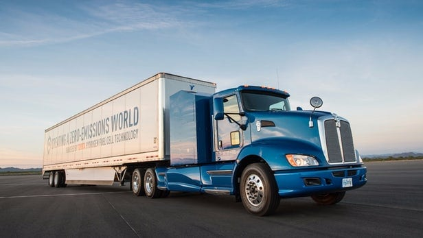 Toyota powers big rigs with hydrogen fuel cells