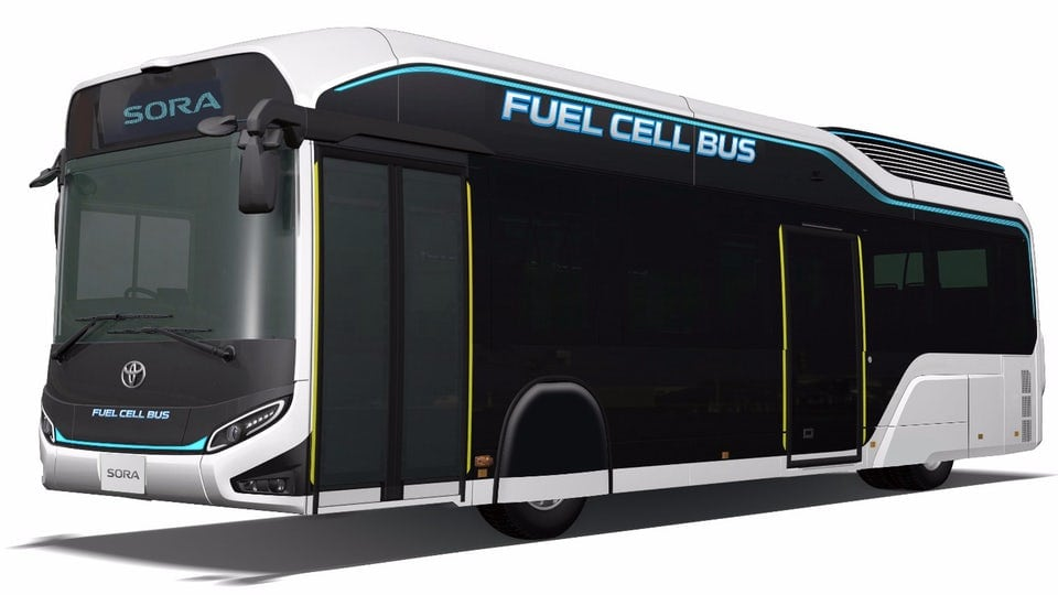 Toyota envisions the fuel cell bus of the future