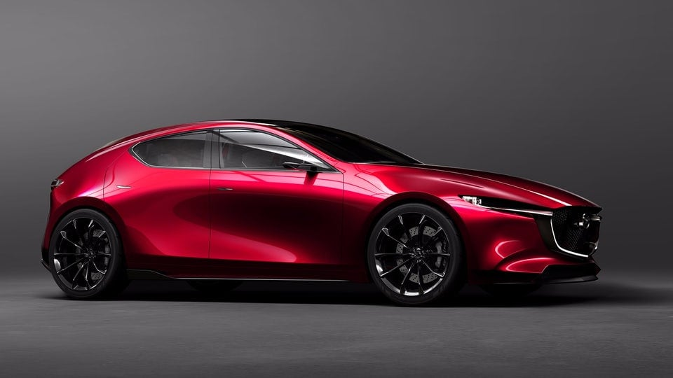 Mazda Kai Concept unveiled in Tokyo as a smooth-sculpted Mazda3