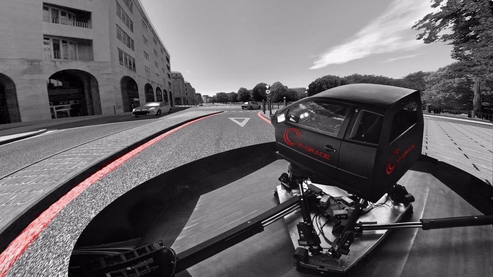 Honda's latest driving simulator ups the actuators for greater range of motion