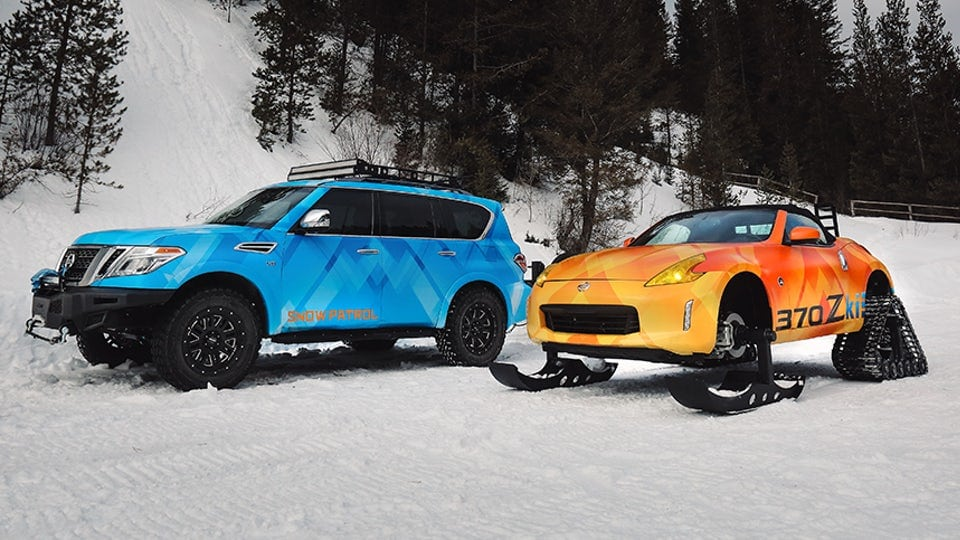 Nissan to carve up Chicago with Armada Snow Patrol and tracked 370Zki