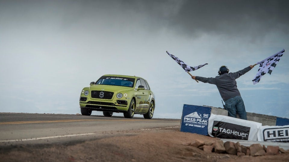 Bentley Bentayga climbs to Pikes Peak SUV record