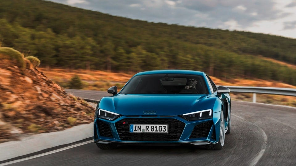 Audi gives the R8 coupe more power and a revised look