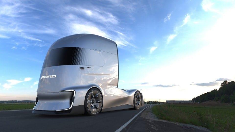 Ford unveils electric autonomous F-Vision semi concept