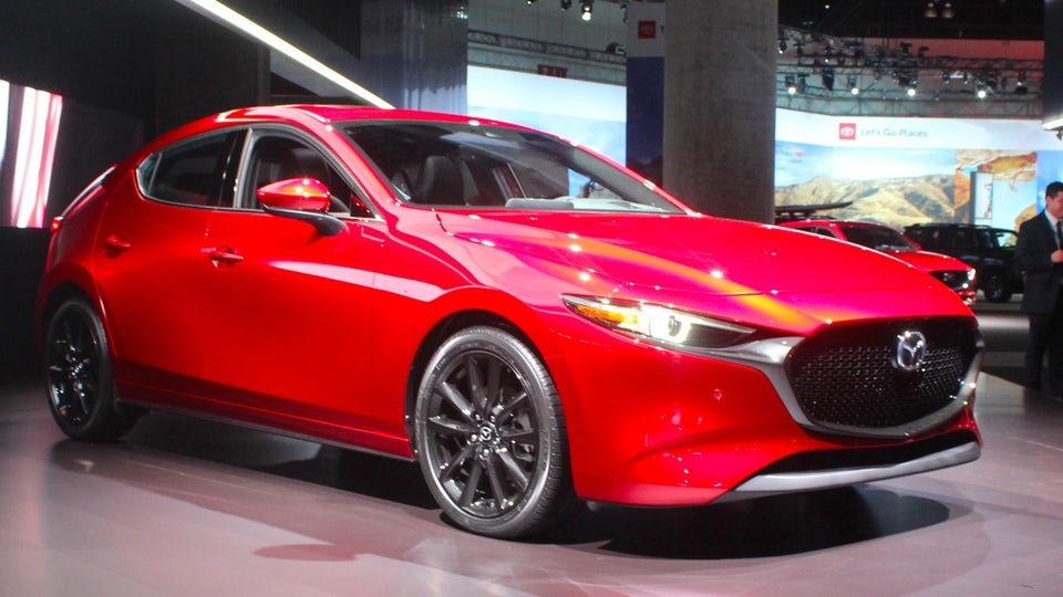 Slick new Mazda3 surfaces in LA