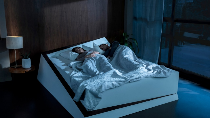 """Ford's """"Lane-Keeping Bed"""" keeps sleep partners in their own lane"""