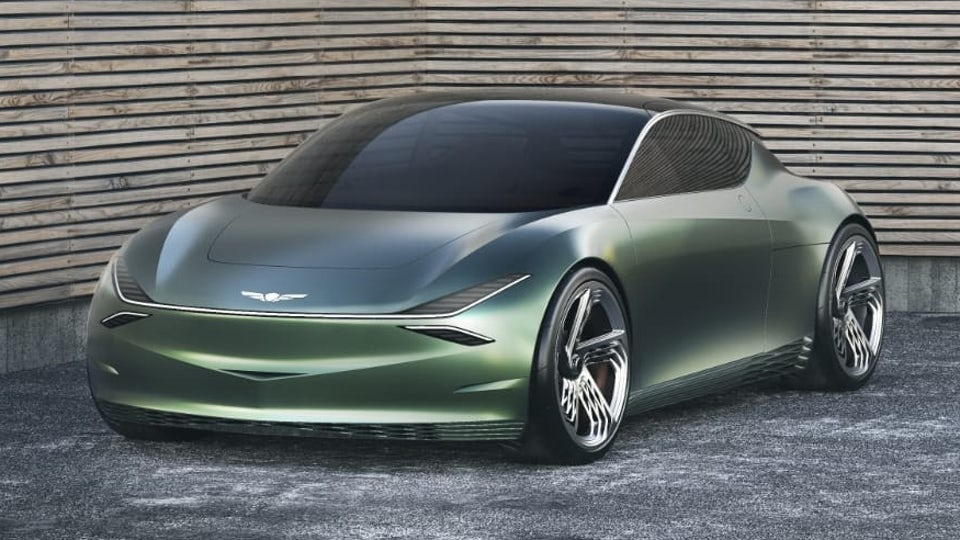 Genesis unveils all-electric Mint compact crossover-style concept in New York