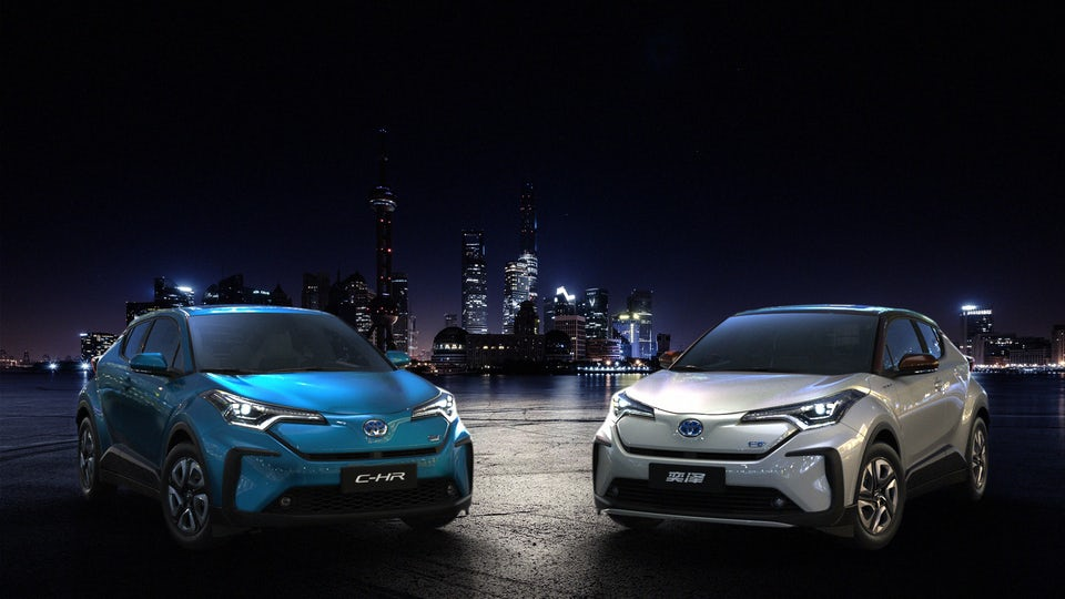 Toyota breaks out two battery electric vehicles for Chinese market