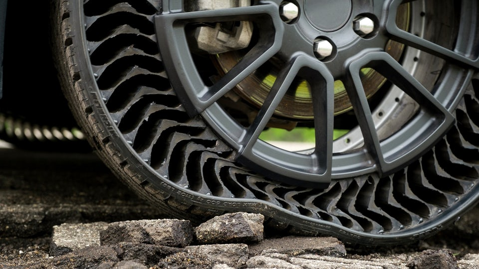 Michelin and GM unveil airless tires for a puncture-free ride