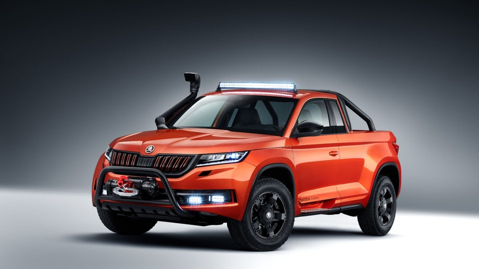 Skoda students turn SUV into rugged one-off Mountiaq pickup truck
