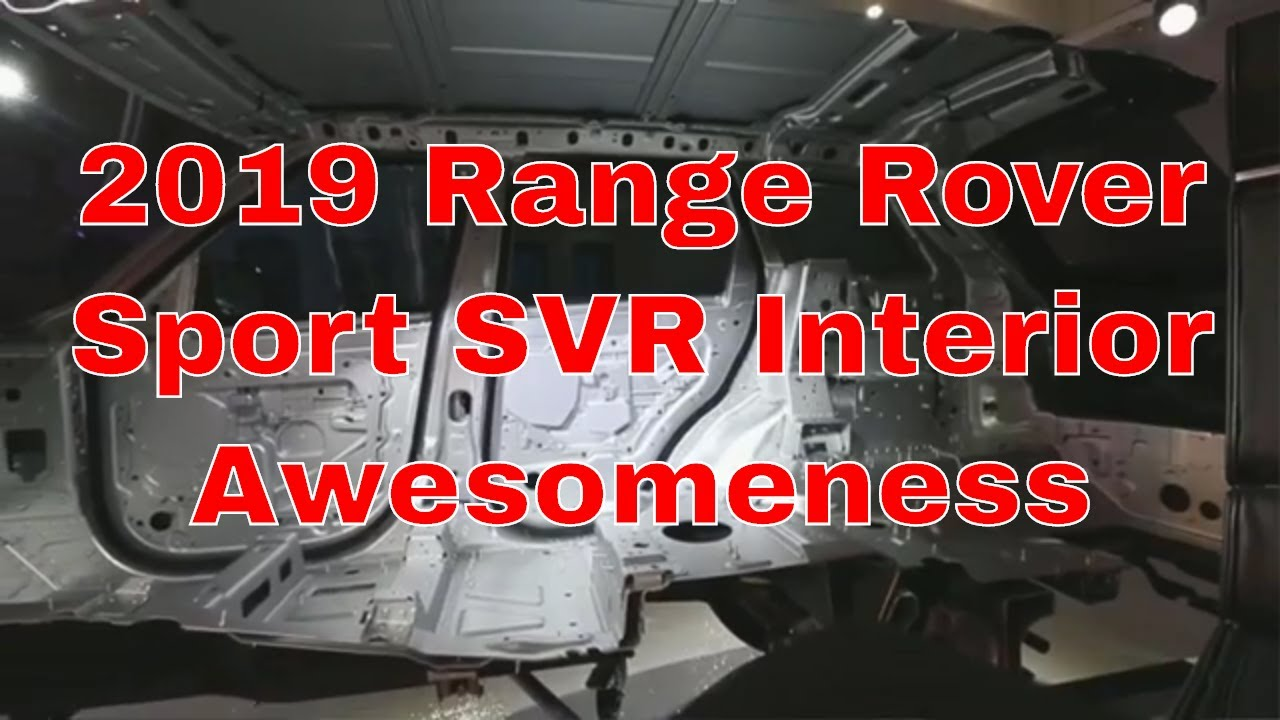 2019 Range Rover Sport SVR interior review