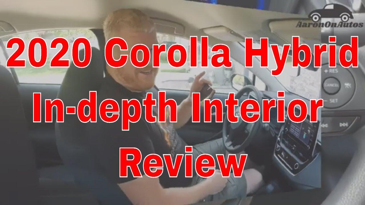2020 Toyota Corolla Hybrid interior review