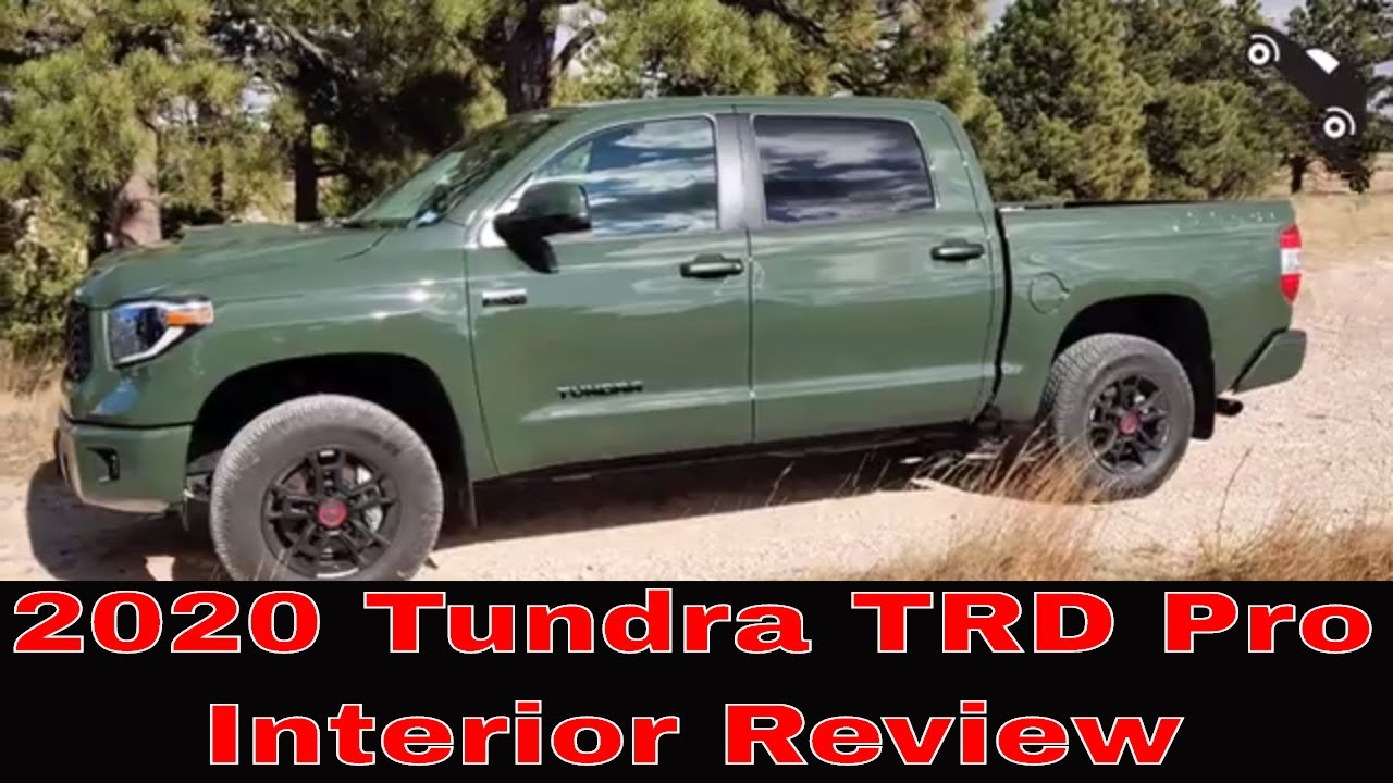 2020 Toyota Tundra TRD Pro interior review