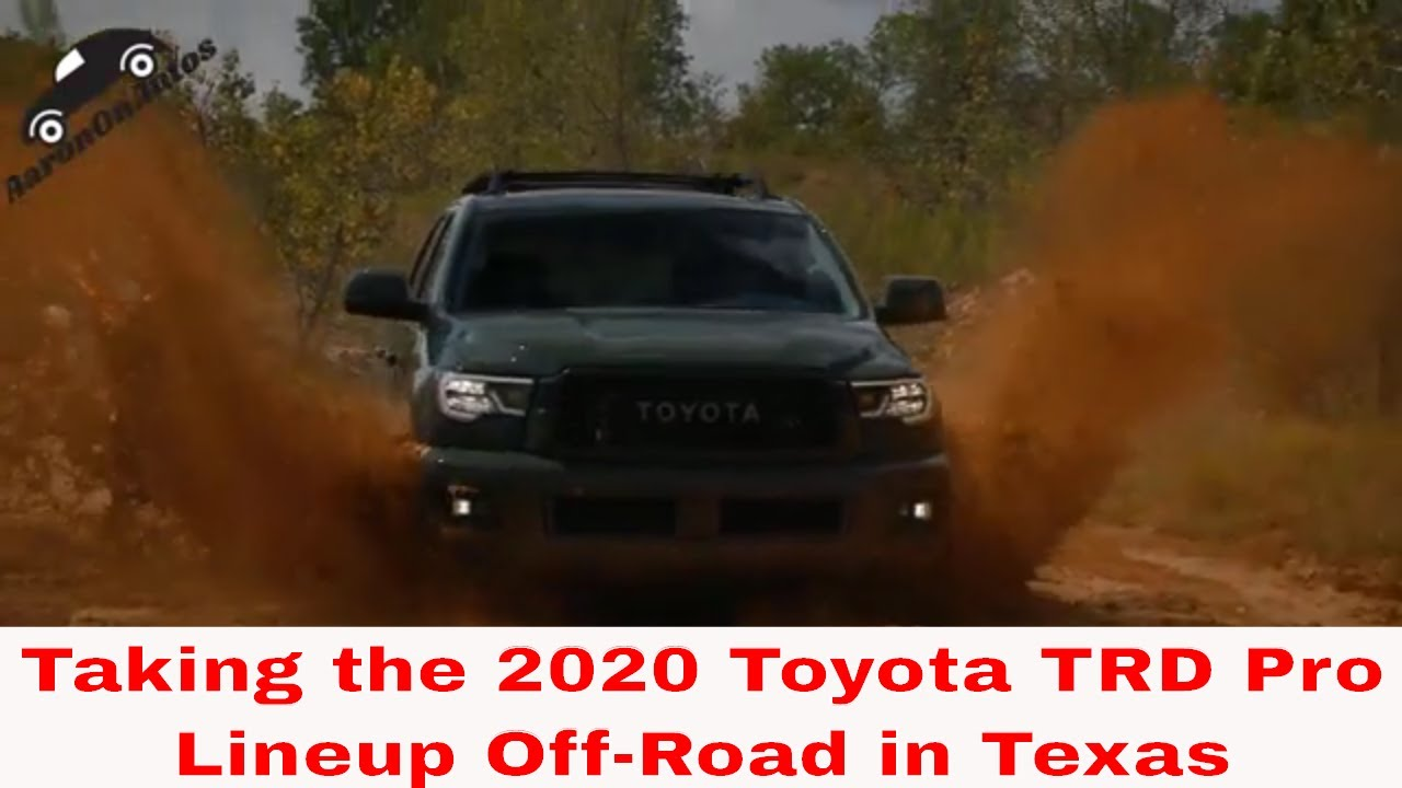 Taking Toyota's  2020 TRD Pro Lineup Off-Road