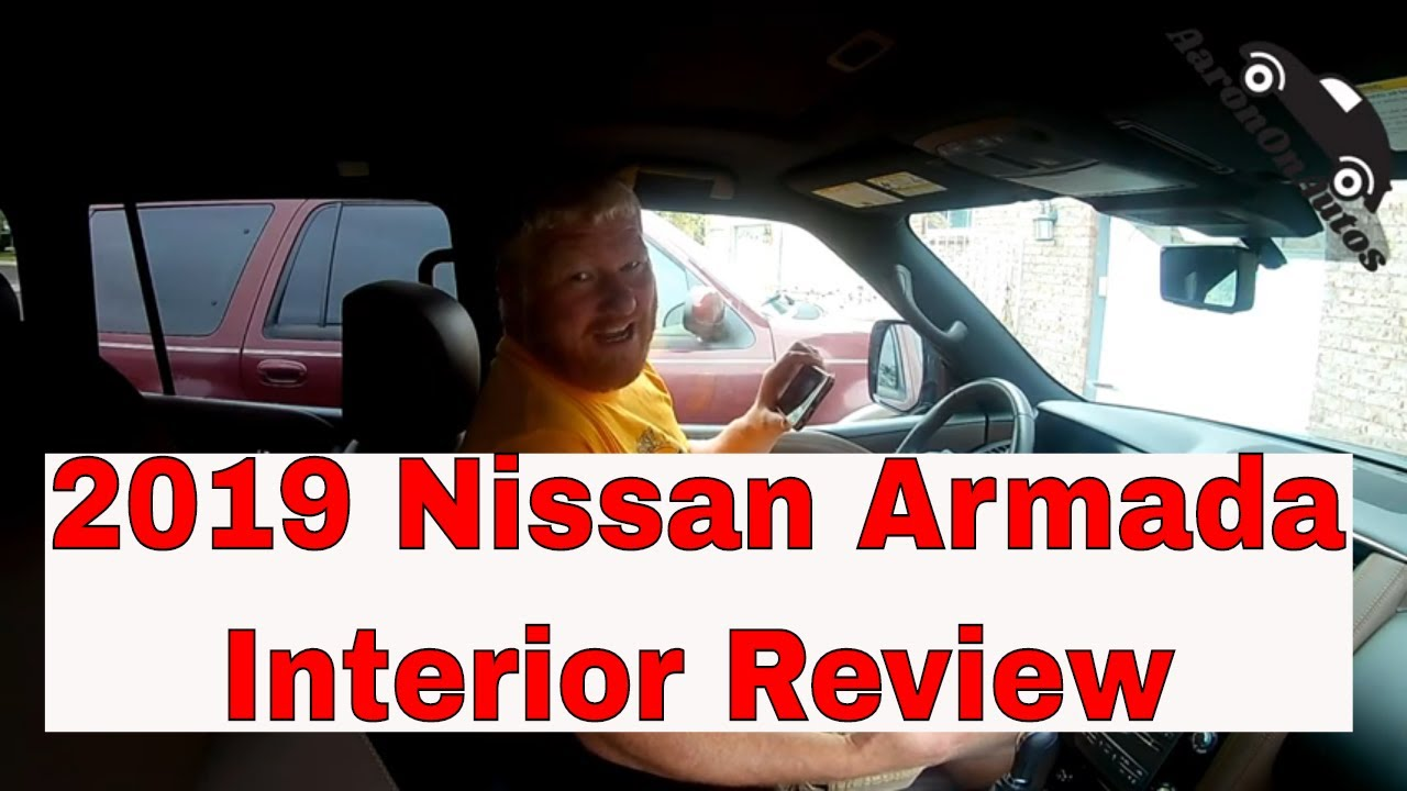 2019 Nissan Armada interior review
