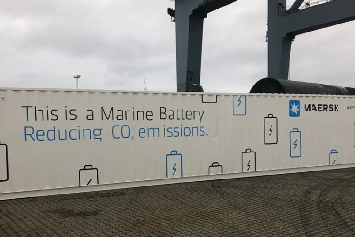 Maersk puts a giant battery on a container ship to improve efficiency