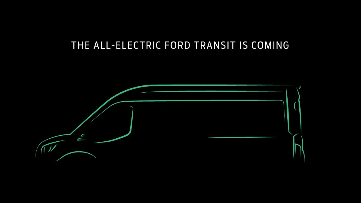 Ford announces all-electric Transit van for USA