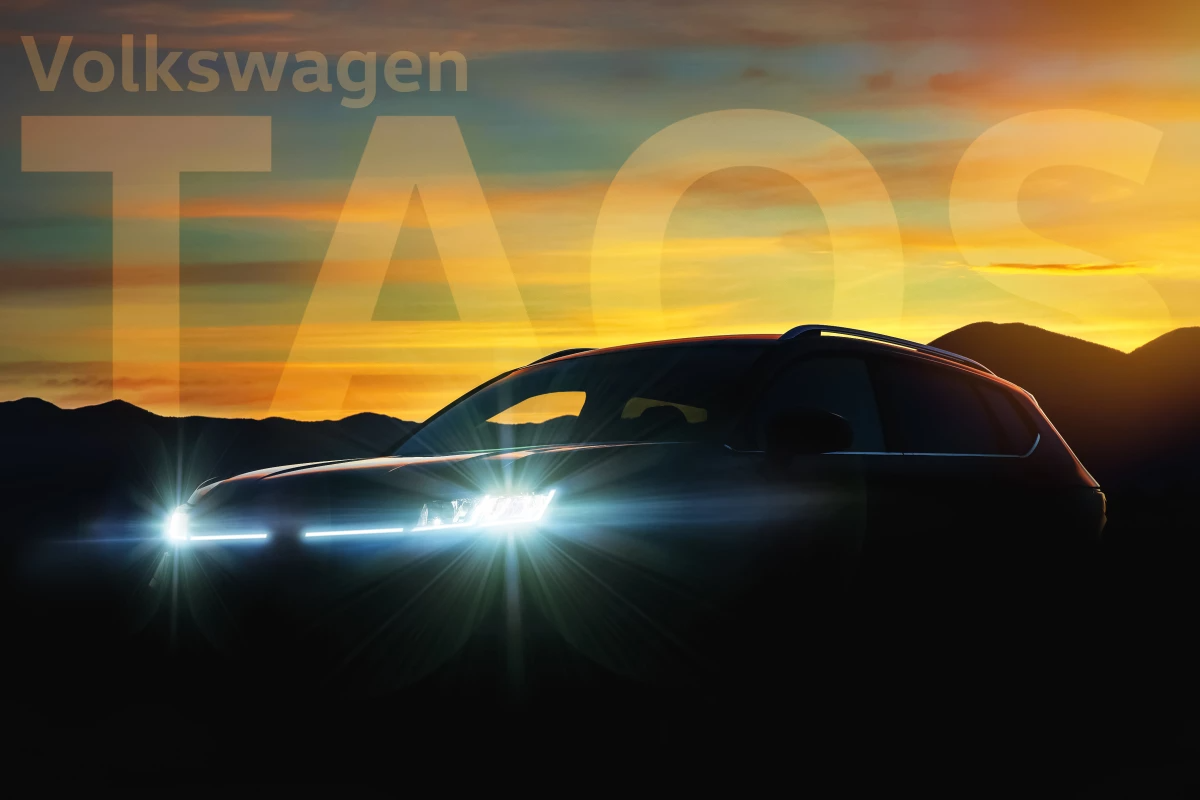 Volkswagen teases new Taos compact utility before reveal