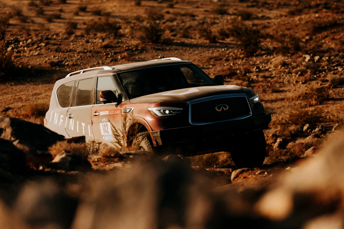 Putting the Infiniti QX80 to the Rebelle Rally test