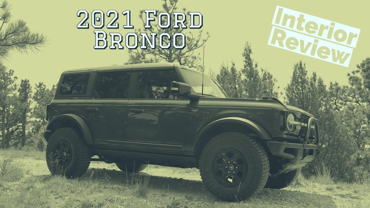 2021 Ford Bronco interior walkthrough