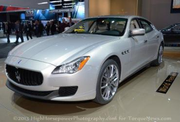 2013 Maserati Quattroporte breaks cover at NAIAS as aggressive game changer