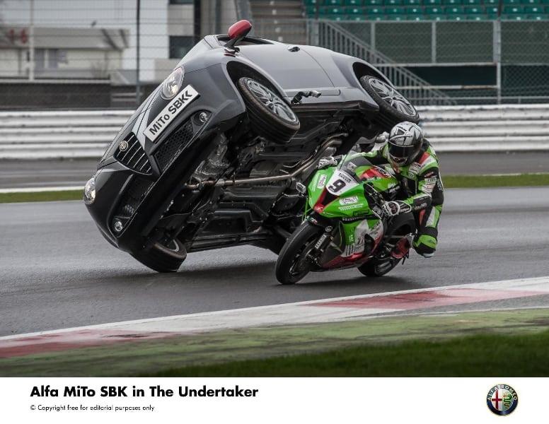 Alfa Romeo launches new MiTo Quadrifoglio Verde SBK with 'Undertaker' stunt