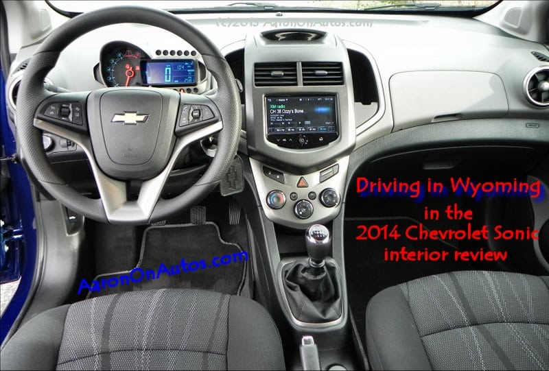 Driving in Wyoming in the 2014 Chevrolet Sonic 5DR LT – interior review