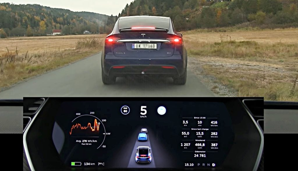 Tesla one of four manufacturers meeting NHTSA automatic braking goals