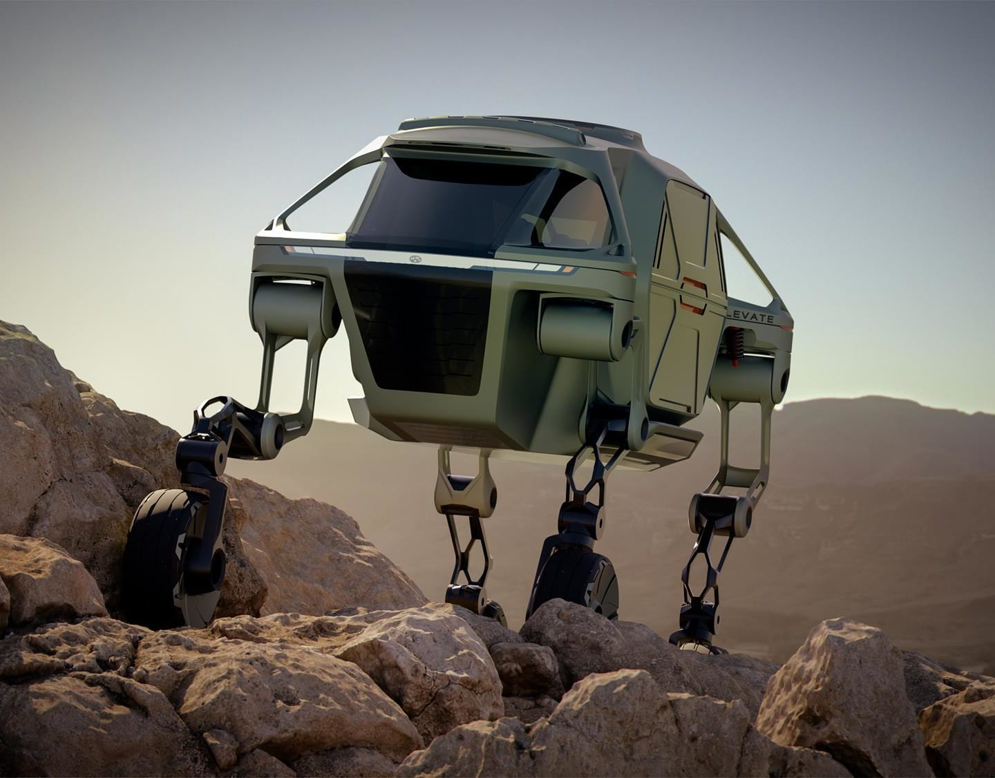 Hyundai Elevate Walking Car Concept Walks All Over CES
