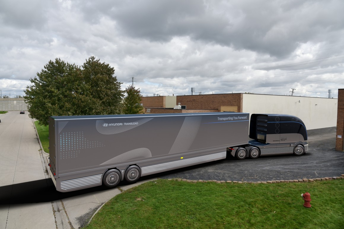 Hyundai unveils hydrogen-powered commercial truck and trailer concepts