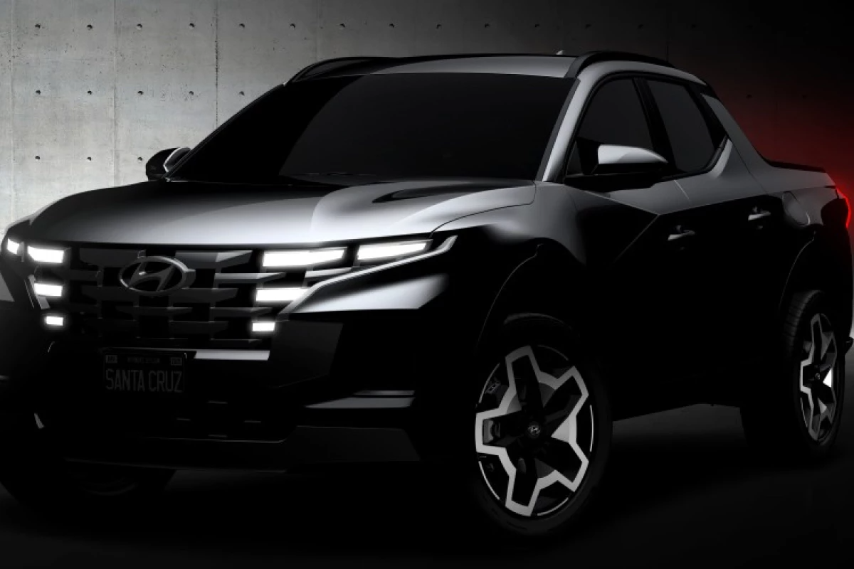Hyundai teases sketches of Santa Cruz pickup truck ahead of reveal